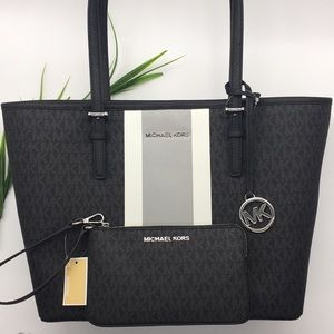 Michael Kors Carryall Tote and Matching Wristlet